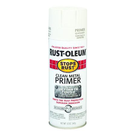 Rust-Oleum Interior and Exterior Clean Metal Primer 12 oz. White