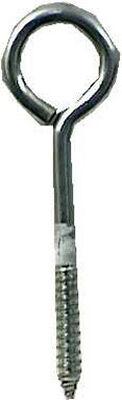 Hampton Zinc Plated Steel 6 in. L Lag Thread Eyebolt