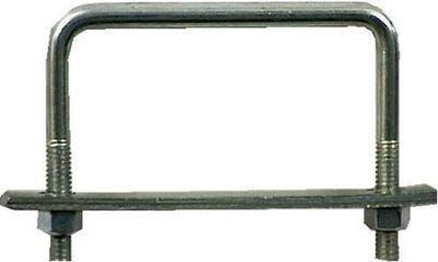 Hampton 4 in. W x 3 in. L Zinc Plated Steel Square Bend U Bolt 10 pk