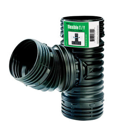 Flex-Drain 4 in. Dia. x 4 in. Dia. x 4 in. Dia. Snap-In To Snap-In To Snap-In Polypropylene Tee a