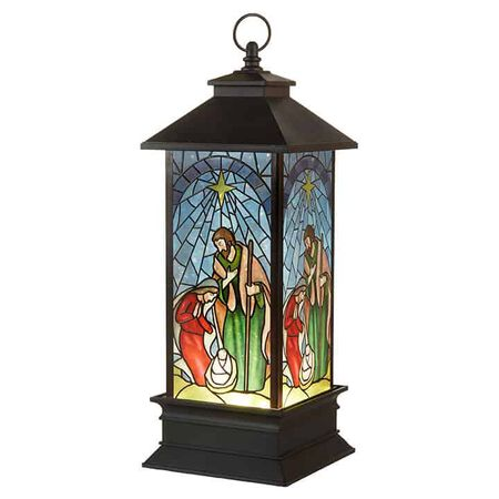"10.5"" Nativity Water Lantern"