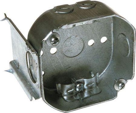 Raco 3-5/8 in. H Octagon 1 Gang Junction Box 1/2 in. Gray Steel