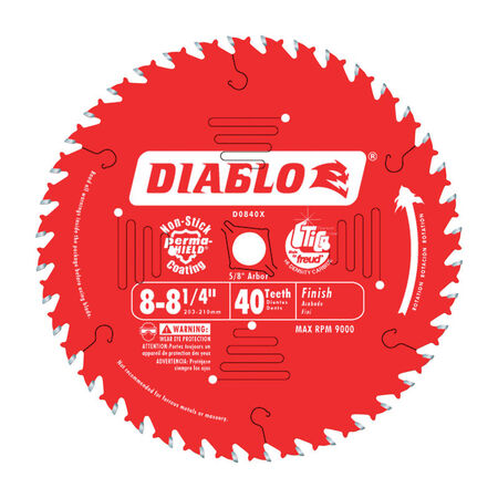Freud Diablo 8-1/4 in. Dia. 40 teeth Carbide Tip Finishing Saw Blade For Wood