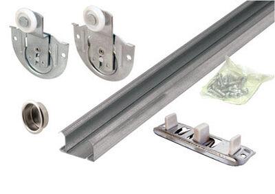 Prime-Line Galvanized Sliding Door Hardware Kit Silver 1 pk