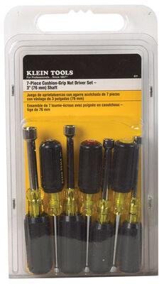 Klein Tools Nut Driver Set Assorted 3 in. L 7 pc. Pack