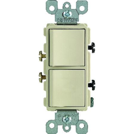 Leviton 1 15 amps Ivory Decorator Toggle switch Combination 1