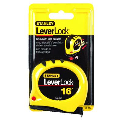 Stanley LeverLock 16 ft. L x 0.75 in. W Tape Measure Yellow 1 pk
