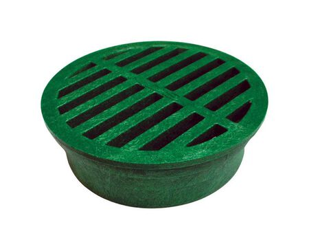 NDS 4 in. Green Polyolefin Round Drain Grate