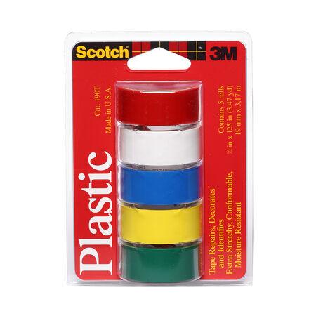 Scotch Assorted 125 in. L x 3/4 in. W Plastic Tape