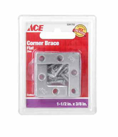 Ace Flat Corner Brace 1-1/2 in. x 3/8 in. Zinc