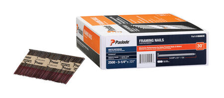 Paslode Framing Nail Angled 3-1/4 in. x 0.131 in. Paper Collated Smooth 2 500 / Box