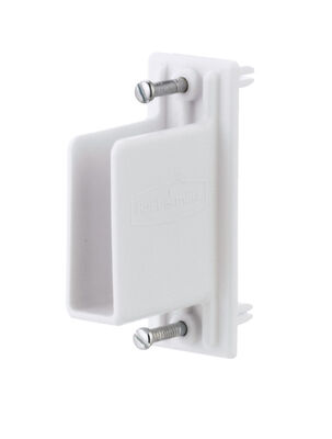 Rubbermaid Fast Set Wall/End Bracket W/Drive Pin White