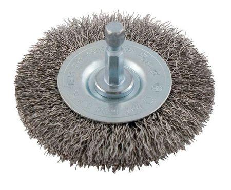 Forney 2-1/2 in. Dia. Coarse Crimped Wire Wheel Brush 6000 rpm