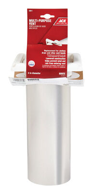 Ace Dryer Vent Hood 4 in. W White