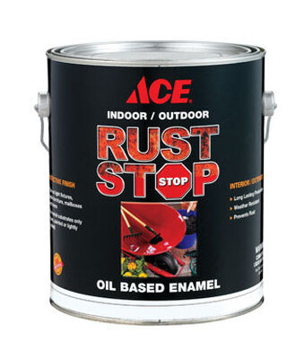 Ace Interior/Exterior Rust Stop Oil-based Enamel Paint Satin White Satin 1 gal.