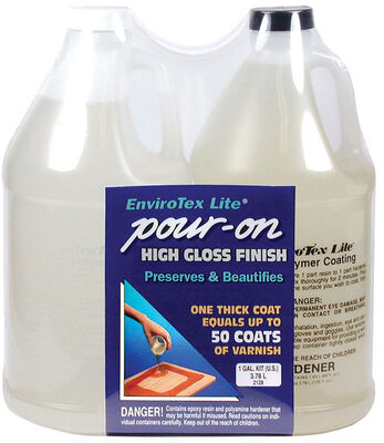 EnviroTex Lite Indoor Clear Gloss Pour-On High Gloss Finish 1/2 gal.