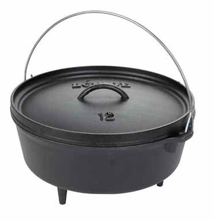 Lodge Logic Cast Iron Camp Oven 6 Black 12 in. L 6