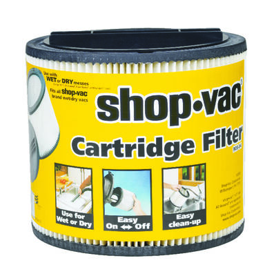 Shop-Vac Wet/Dry Vac Cartridge Filter 8 in. Dia. 5 gal.