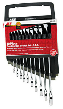 Ace SAE Chrome Wrench Set Combination