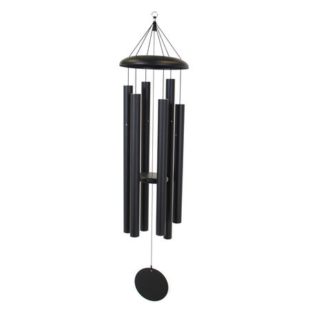 "Corinthian Bells, 53"" Black Windchime"