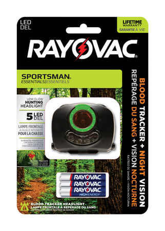 Rayovac Sportsman Essentials 70 lumens Headlight LED AAA Black