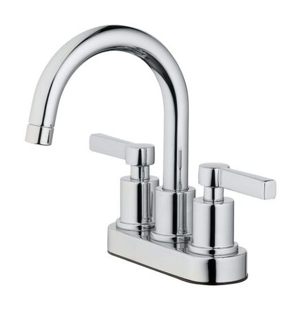 OakBrook Doria Two Handle Lavatory Faucet 4 in. Chrome