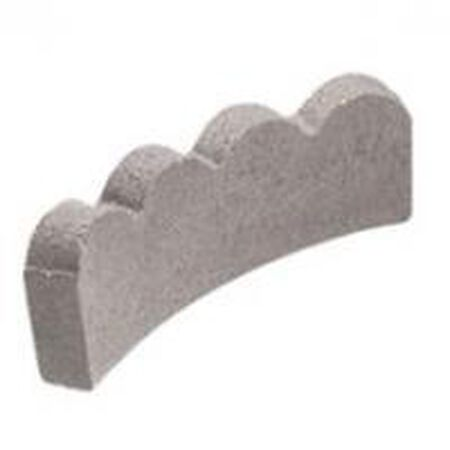 "Edging Lawn Scallop 12"" Curved Pewter"