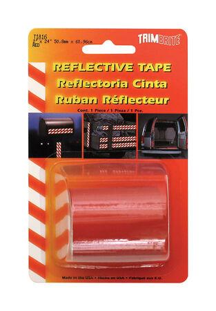 Trim Brite 24 in. W x 2 in. L Red Reflective Tape 1 pk