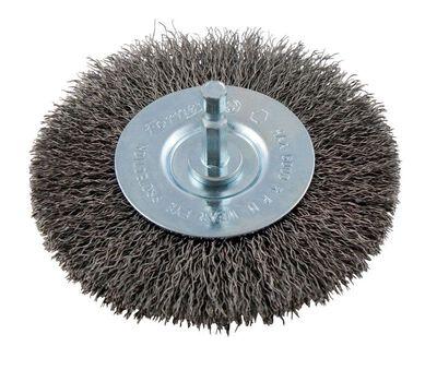 Forney 4 in. Dia. Fine Crimped Wire Wheel Brush 6000 rpm