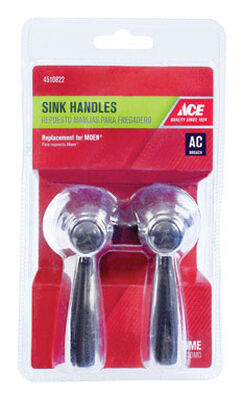 Ace Lever Chrome Hot and Cold Faucet Handles