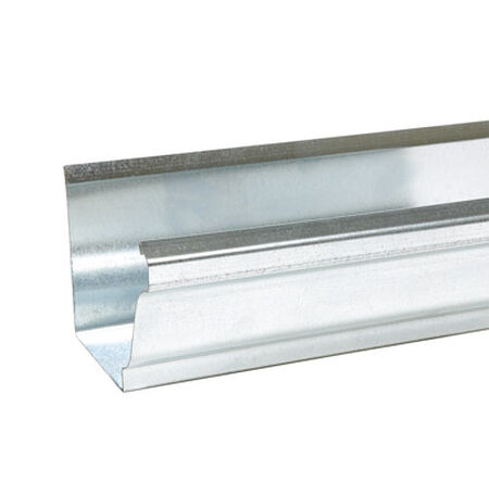 Amerimax 10 L x 5 in. W x 10 ft. L x 5 in. H x 5 in. W Galvanized Steel Box Gutter Silver K