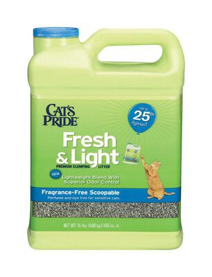 Cat's Pride Fresh & Light Scoopable Cat Litter No Scent 15 lb.