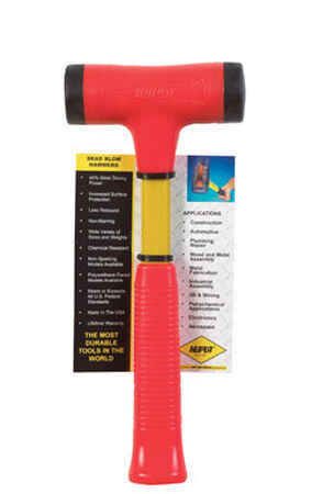 Nupla Strike Pro 24 oz. Soft Face Fiberglass Deadblow Hammer Steel