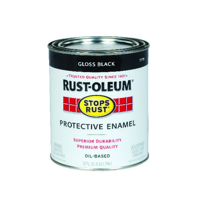 Rust-Oleum Indoor and Outdoor Oil Based Protective Enamel Black Gloss 1 qt.