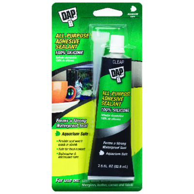 DAP Aquarium Silicone Rubber Sealant Clear 2.8 oz.