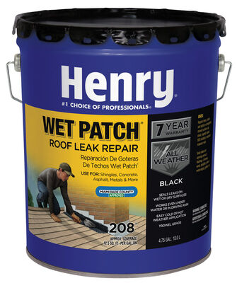 Henry Asphalt Wet Patch Roof Cement 4-3/4 gal. Black