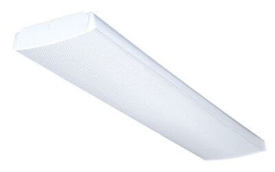 Lithonia Lighting 48 in. L 2 lights T8 Fluorescent Light Fixture Wrap Around
