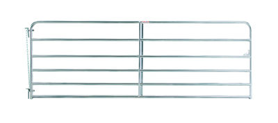 "12' 6-bar economy galvanized tube gate, 1 3/4"" 20 gauge Z-brace"