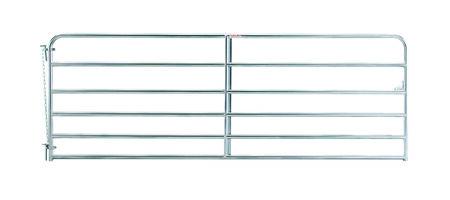 "12' 6-bar economy galvanized tube gate, 1 3/4"" 20 gauge Z-brace"
