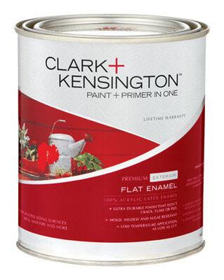 Clark+Kensington Flat Exterior Acrylic Latex Enamel Paint 1 qt. Tintable Base