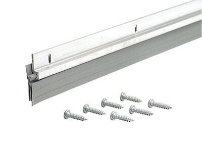 M-D Building Products Door Bottom Aluminum Door Sweep 1/4 in. x 36 in. L Silver