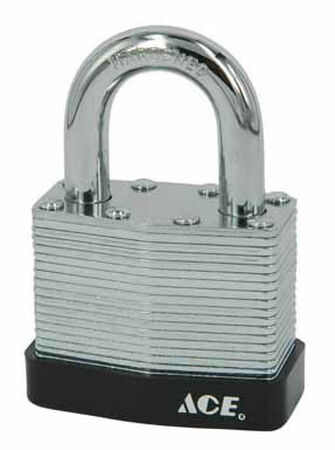 Ace 1-9/16 in. Double Locking Steel Padlock