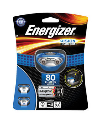Energizer Vision 100 lumens Headlight LED AAA Blue