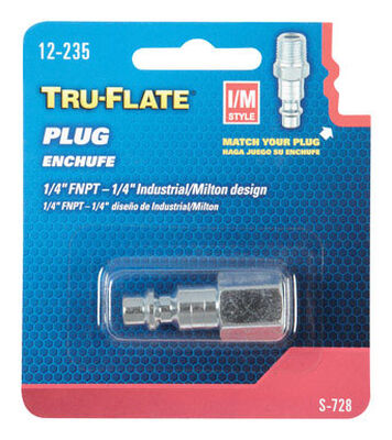 Tru-Flate Steel Air Plug 1/4 in. FNPT Female I/M