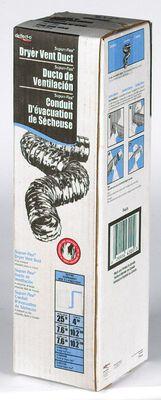 Deflect-O Jordan 4 in. Dia. x 25 ft. L Dryer Vent Duct Aluminum