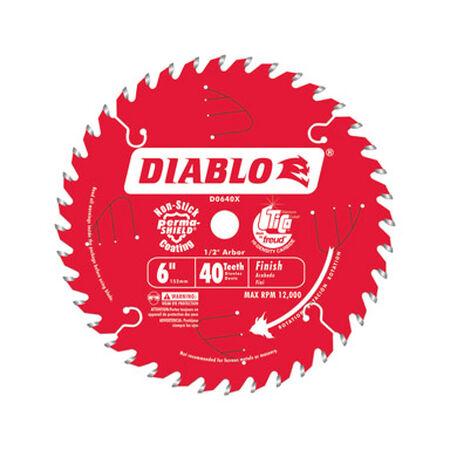 Freud Diablo 6-1/2 in. Dia. 40 teeth Carbide Tip Finishing Saw Blade For Wet Lumber