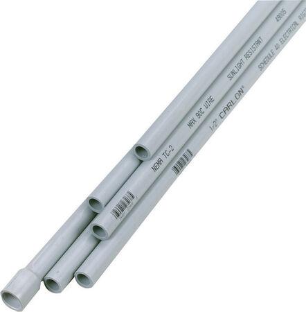 Cantex 1/2 in. Dia. x 10 ft. L Electrical Conduit Rigid PVC