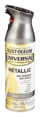 Rust-Oleum Universal Paint & Primer in One Dark Steel Metallic Metallic Spray 11 oz.