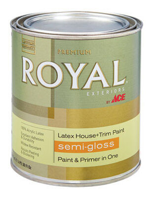Ace Royal Acrylic Latex House & Trim Paint & Primer Semi-Gloss 1 qt.