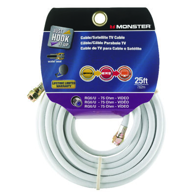Monster Just Hook it Up 25 ft. L Video Coaxial Cable